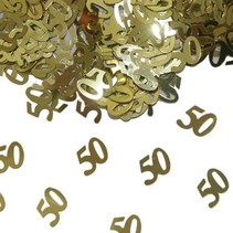 Folat - Tafeldecoratie/confetti - 50 Jaar getrouwd - Goud