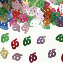 Folat - Tafeldecoratie/confetti - 65 Jaar - 14gr.