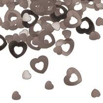Folat - Tafeldecoratie/confetti - Hartjes - Zilver