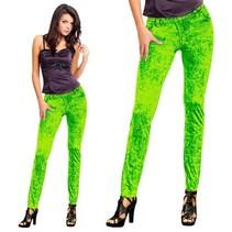 Folat - Legging - Jeans - Fluor groen
