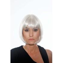Folat - Pruik - Victoria - Wit/zilver