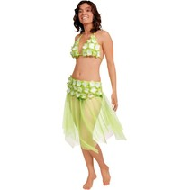 Folat - Rokje & Bikini - Tropisch - Limegroen