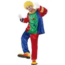 Witbaard - Kostuum - Clown - Satijn - M