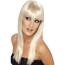 Smiffys - Pruik - Glamourama - Lang - Blond