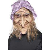 Smiffys - Masker - Heks - Met haar & kapje