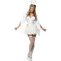 Smiffys - Kostuum - Engel - Met verlichting - Wit - M