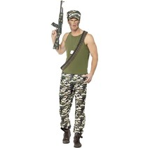 Smiffys - Kostuum - Leger - Infanterie - XL
