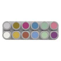 Grimas - Water make-up - Palet P - Parelmoer - 12x2,5ml