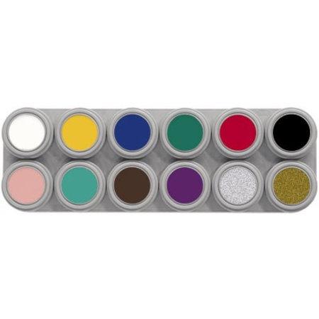Grimas Grimas - Water make-up - Palet A - Basiskleuren - 12x2,5ml