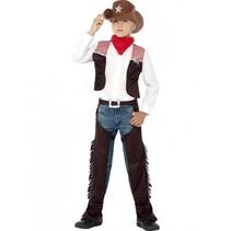 Smiffys - Kostuum - Cowboy - Deluxe - mt.128