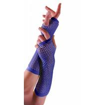 PartyXplosion - Handschoenen - Net - Blauw - Lang