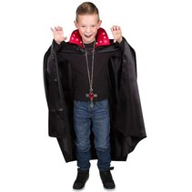 Folat - Cape - Dracula - Met verlichting - Zwart/rood