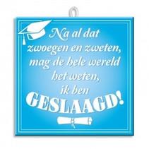 Paperdreams - Tegel - Slogan - Geslaagd/diploma