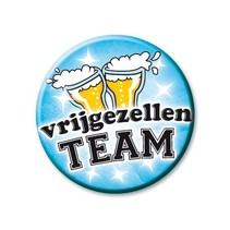 Paperdreams - Button - Klein - Vrijgezellenteam - Man