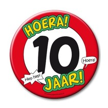 Paperdreams - Button XL - 10 Jaar