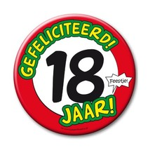 Paperdreams - Button XL - 18 Jaar