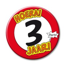 Paperdreams - Button XL - 3 Jaar