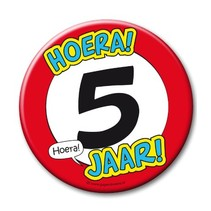 Paperdreams - Button XL - 5 Jaar