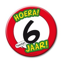 Paperdreams - Button XL - 6 Jaar