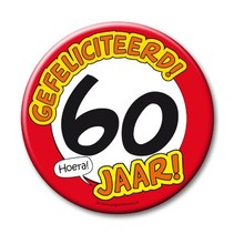 Paperdreams - Button XL - 60 Jaar