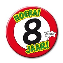 Paperdreams - Button XL - 8 Jaar