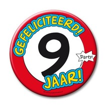 Paperdreams - Button XL - 9 Jaar