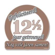 Paperdreams - Huldeschild - Special - 12,5 Jaar getrouwd