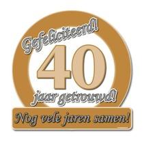 Paperdreams - Huldeschild - Special - 40 Jaar getrouwd