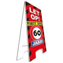 Paperdreams - Warning sign - 60 Jaar