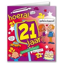 Paperdreams - Wenskaart - Cartoon - 21 Jaar