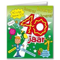 Paperdreams - Wenskaart - Cartoon - 40 Jaar - Man