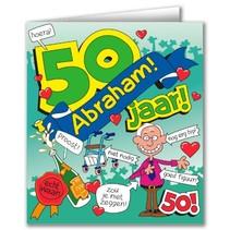 Paperdreams - Wenskaart - Cartoon - 50 Jaar - Abraham