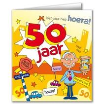 Paperdreams - Wenskaart - Cartoon - 50 Jaar - Man