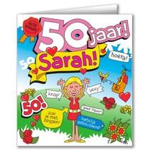 Paperdreams - Wenskaart - Cartoon - 50 Jaar - Sarah