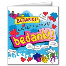 Paperdreams - Wenskaart - Cartoon - Bedankt