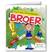 Paperdreams - Wenskaart - Cartoon - Broer