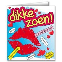Paperdreams - Wenskaart - Cartoon - Dikke zoen