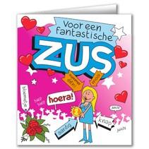 Paperdreams - Wenskaart - Cartoon - Zus