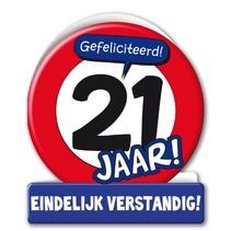 Paperdreams - Wenskaart - Verkeersbord - 21 Jaar