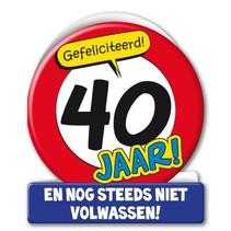 Paperdreams - Wenskaart - Verkeersbord - 40 Jaar