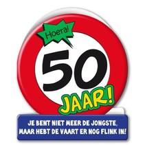 Paperdreams - Wenskaart - Verkeersbord - 50 Jaar