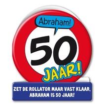 Paperdreams - Wenskaart - Verkeersbord - 50 Jaar - Abraham