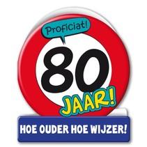 Paperdreams - Wenskaart - Verkeersbord - 80 Jaar