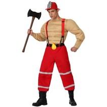 Partychimp - Kostuum - Brandweer - Gespierd - XL