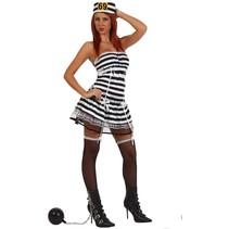 Partychimp - Kostuum - Gevangenen - Vrouwelijk - Sexy - XL