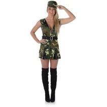 Partychimp - Kostuum - Legervrouw - S
