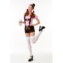 Partychimp - Kostuum - Tirolerbroek - Biermeisje - M