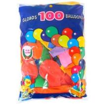 PartyXplosion - Ballonnen - Assortie - 100st. - 27cm