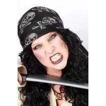 PartyXplosion - Bandana - Piraat - Zwart
