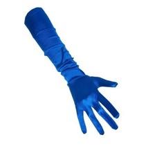 PartyXplosion - Handschoenen - Satijn - Blauw - 48cm